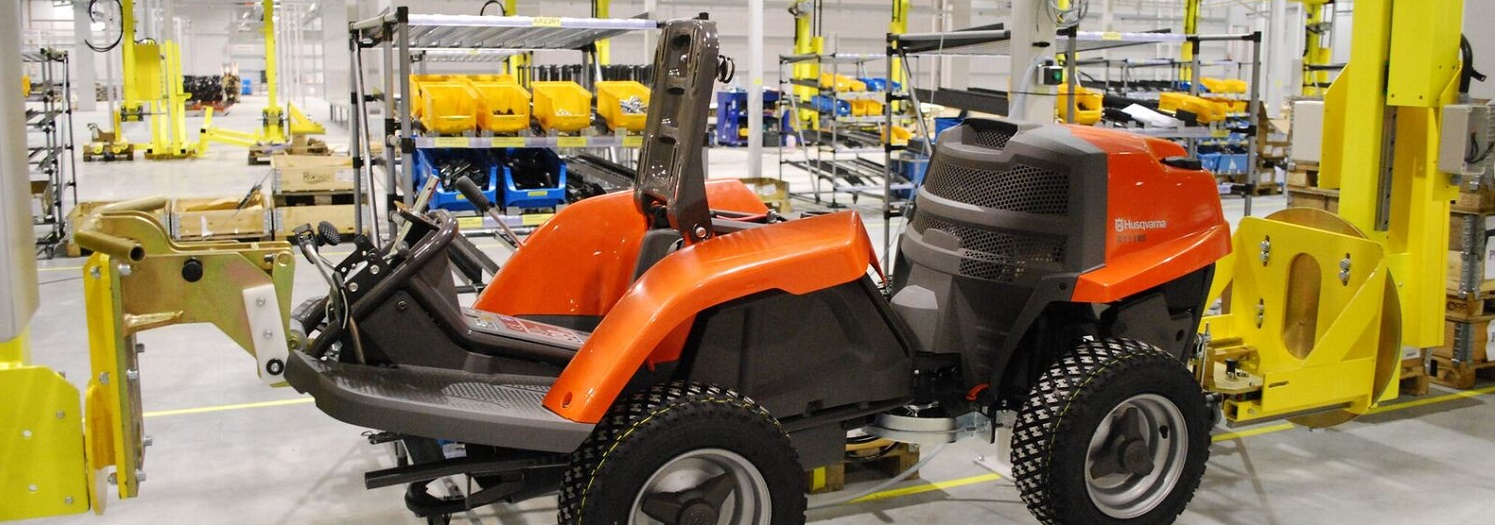 Lawn Mower Assembly Line-IntelliTrak 500 Series Overhead Conveyor