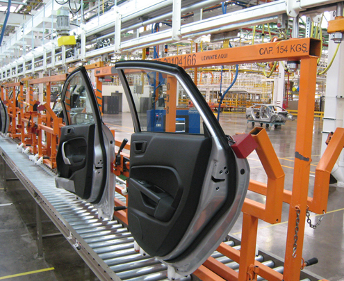 Automotive Assembly Overhead Conveyor System