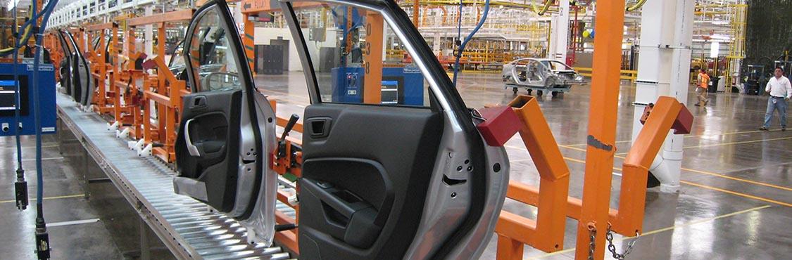 Automotive Door Assembly Line - IntelliTrak 500 Series Overhead Conveyor