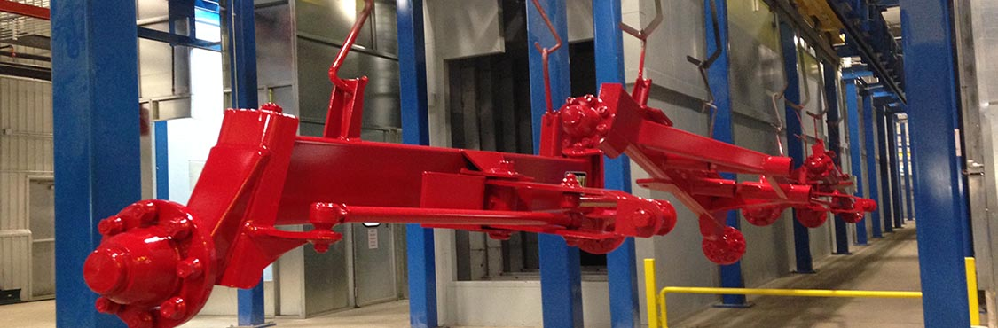 Tractor Attachment Finishing Line - IntelliTrak 1500 Series Overhead Conveyor