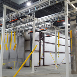 Roller Conveyor Components Finishing Line - IntelliTrak 500 Series Overhead Conveyor