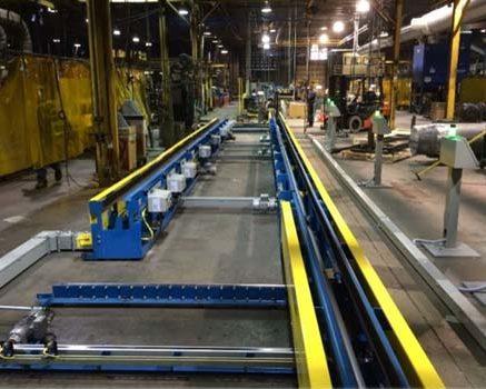 Automotive Gas Tank Fabrication Line - IntelliTrak 1500i Series Overhead Conveyor