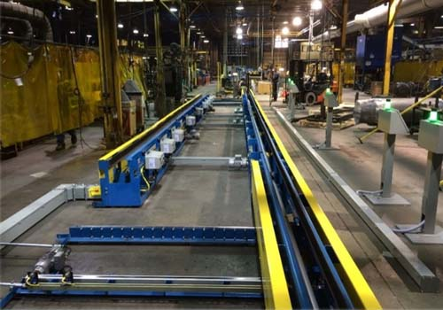 Automotive Gas Tank Fabrication Line - IntelliTrak 1500i Series Overhead Conveyor
