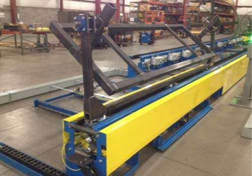 Automotive Gas Tank Fabrication Line - IntelliTrak 1500i Series Inverted Conveyor