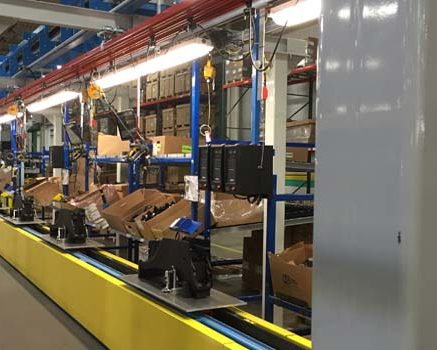 Automotive Gas Tank Fabrication Line - IntelliTrak 1500i Series Inverted Conveyor
