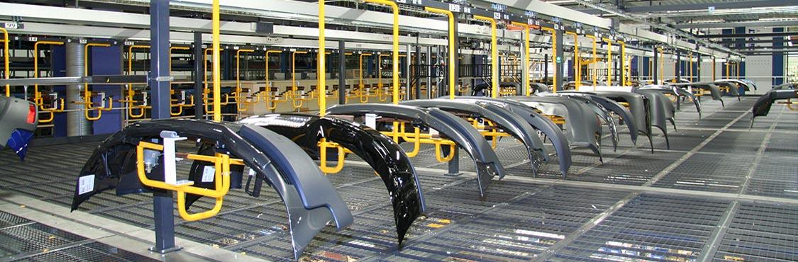 Automotive Storage & Retrieval Line - IntelliTrak 150 Series Overhead Conveyor