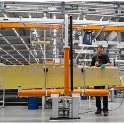 Airplane Component Assembly Line - IntelliTrak 500 Series Overhead Conveyor