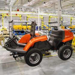 Lawn Mower Assembly Line - IntelliTrak 500 Series Overhead Conveyor
