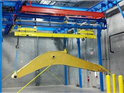 Excavator Boom & Stick Finishing Line with Shuttle - IntelliTrak 3500 Series Overhead Conveyor
