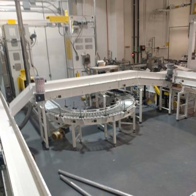 Dry Goods Packaging Line with Powered Conveyor