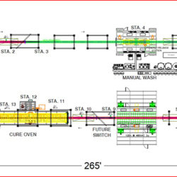 Industrial Fan Component Finishing Line - IntelliTrak 1500 Series Overhead Conveyor