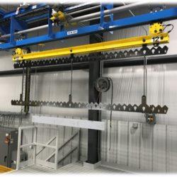 Custom Fabricated Component Finishing Line - IntelliTrak 1500 Series Overhead Conveyor