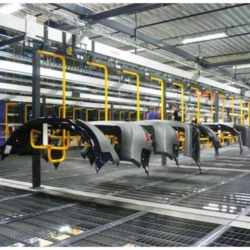 Automotive Storage and Retrieval Line - IntelliTrak 150 Series Overhead Conveyor