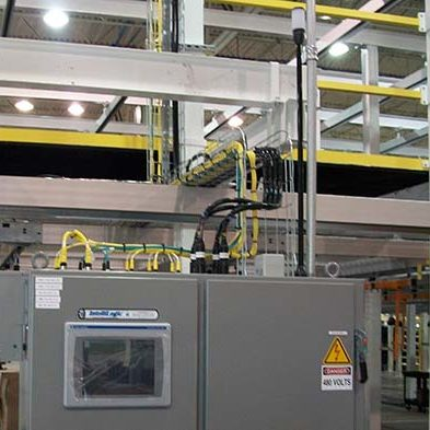 Automotive Instrument Panel Storage and Retrieval Line- IntelliTrak 150 Series Overhead Conveyor