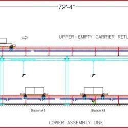 Automotive Console Assembly Line - IntelliTrak 1500i Series Overhead Conveyor