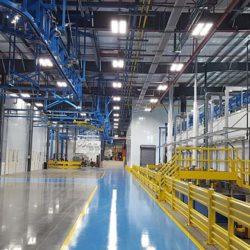 Boom Truck Components Finishing Line - IntelliTrak 1500 Series Overhead Conveyor