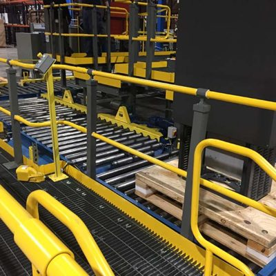 Automotive Instrument Panel Assembly Line with Powered Conveyor - IntelliTrak 500 Series Overhead Conveyor