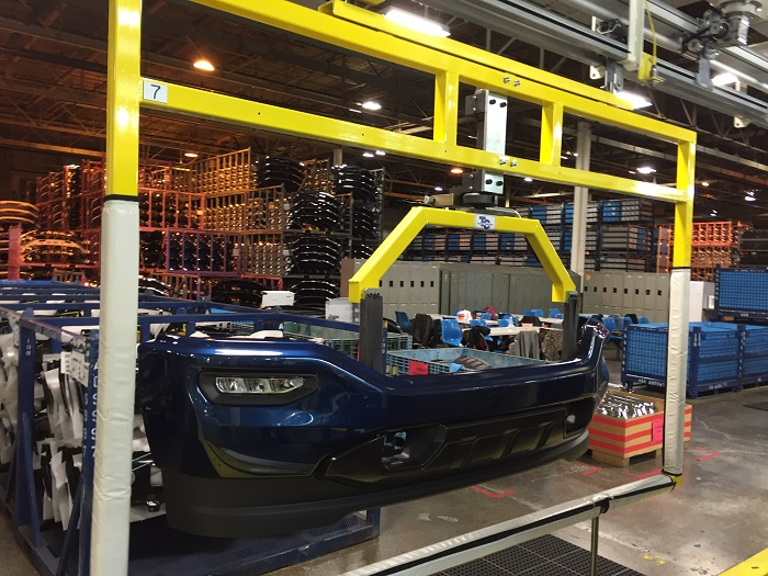 Automotive Bumper Assembly Line - IntelliTrak 500 Series Overhead Conveyor