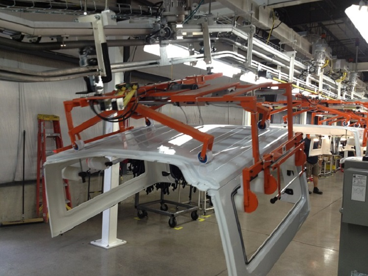 Automotive Hard Top Assembly Line - IntelliTrak 500 Series Overhead Conveyor