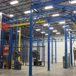 Industrial Fan Component Finishing System - IntelliTrak 1500 Series Overhead Conveyor
