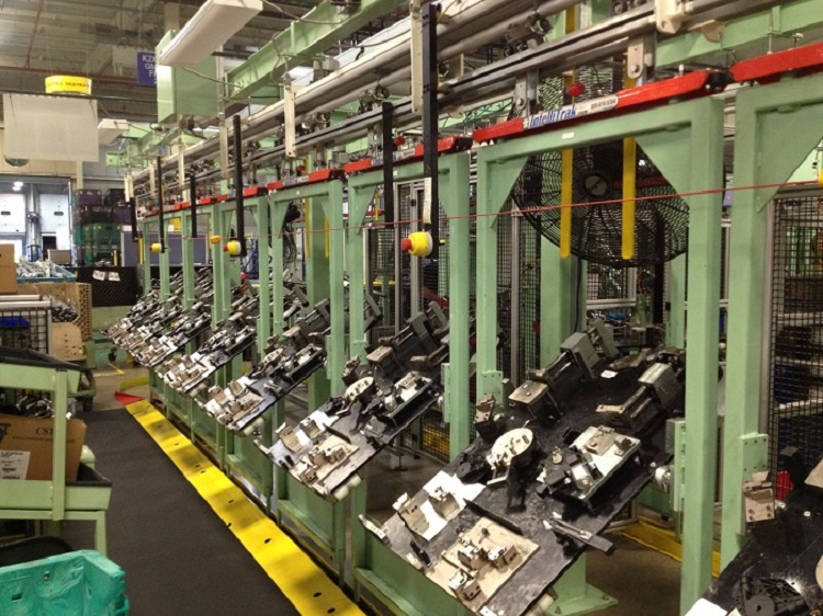 Automotive Components Assembly Line - IntelliTrak 500 Series Overhead Conveyor