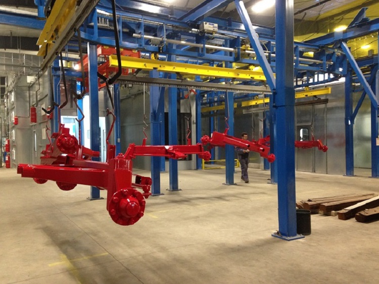 Tractor Attachments Finishing Line - IntelliTrak 1500 Series Overhead Conveyor