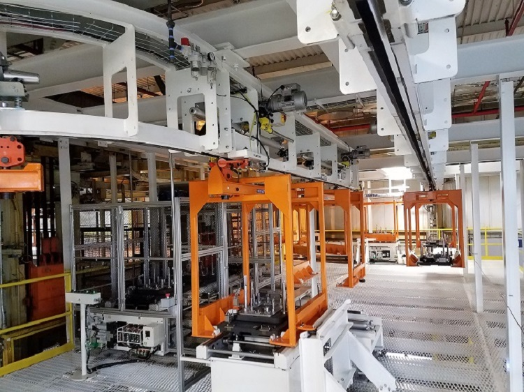Automotive Engine Transfer Line - IntelliTrak 1500 Series Overhead Conveyor