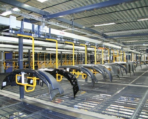 Automotive Storage and Retrieval Line - IntelliTrak 150 Series Overhead Conveyor