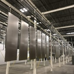 Refrigerated Display Finishing Line - IntelliTrak 500 Series Overhead Conveyor
