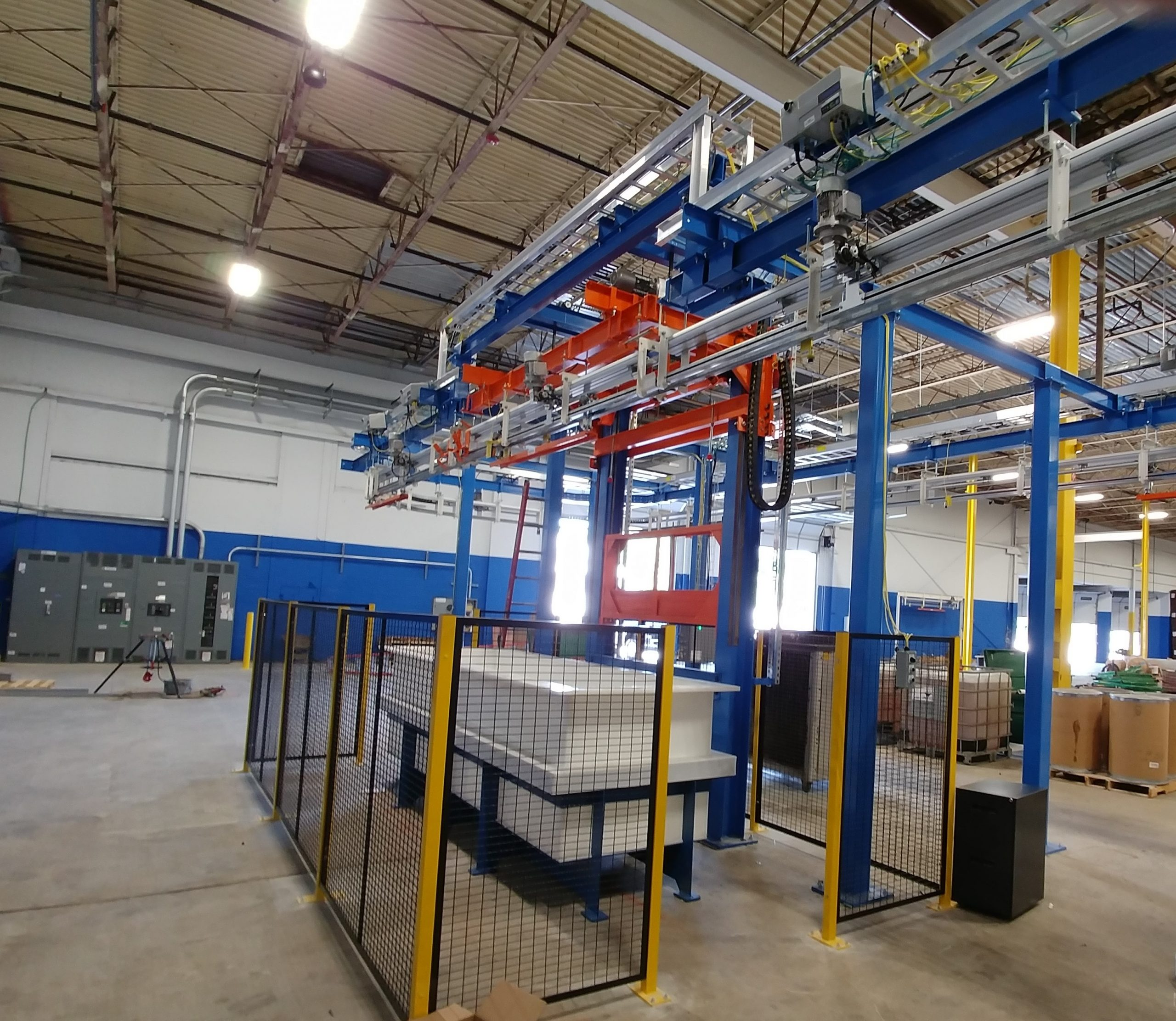 IntelliTrak 500 Series Overhead Conveyor - Building Products Galvanizing System