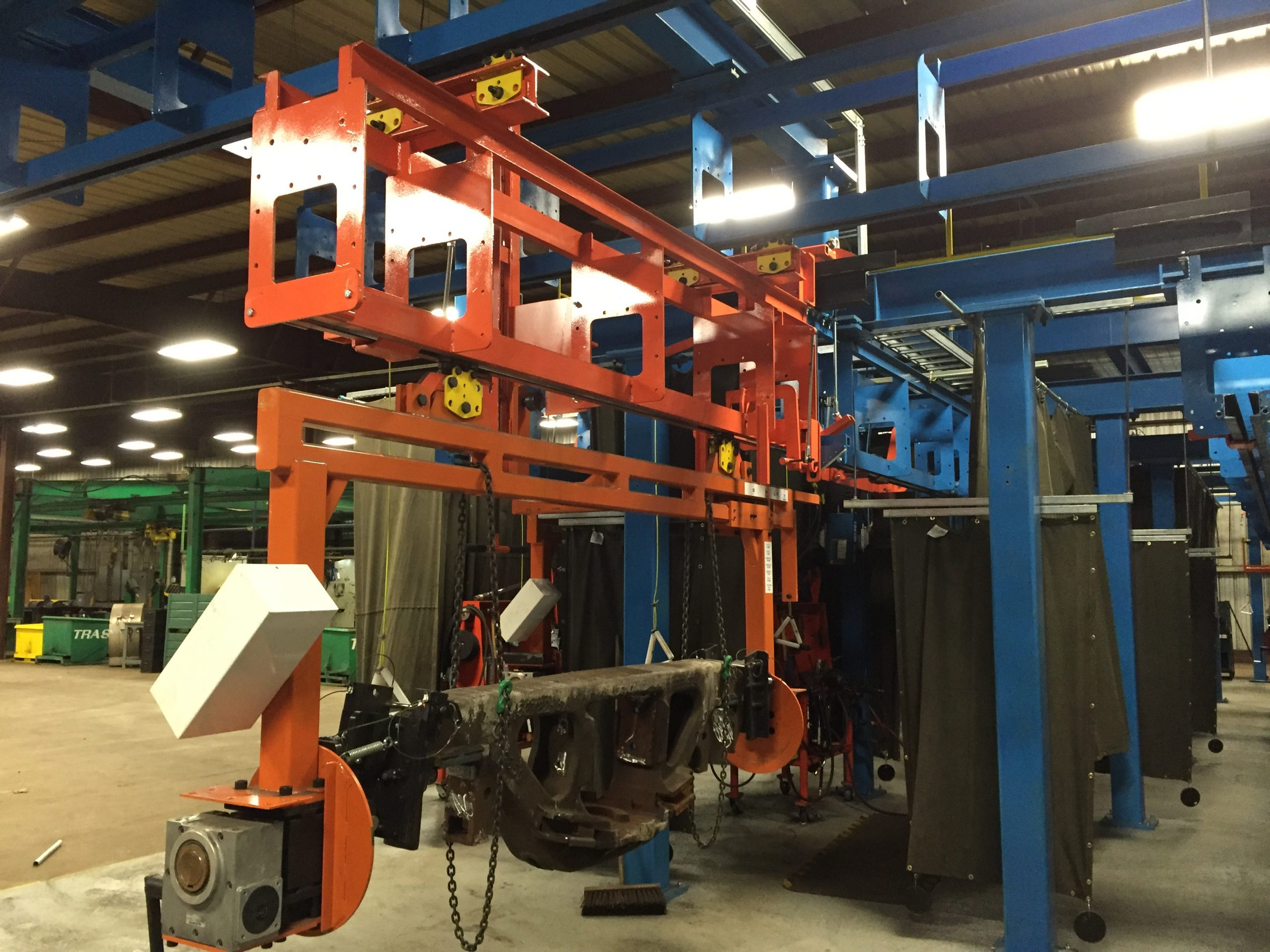 IntelliTrak 1500 Series Overhead Conveyor - Railroad Car Remanufacturing Line