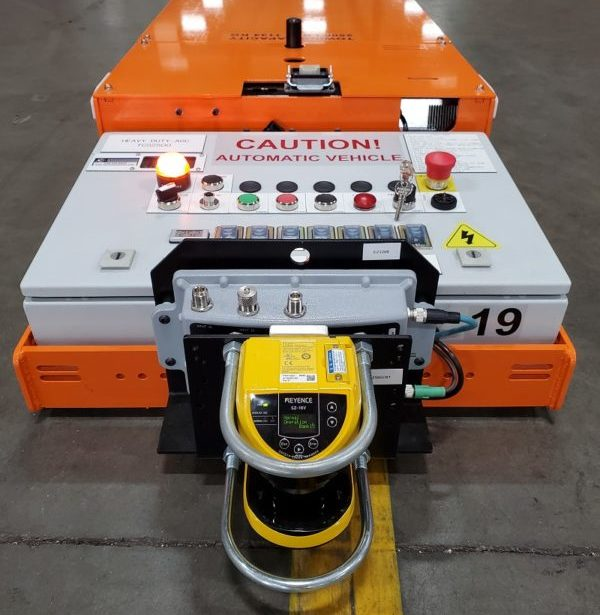 Automated Guided Cart with magnetic path